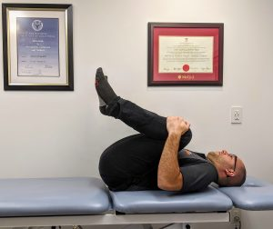 Relief for Low Back Pain McKenzie MDT Exercise - Flexion in Lying